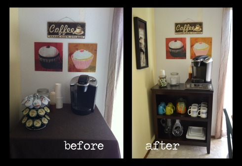 coffee bar before and after